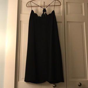 NWOT Scalloped neckline slip dress